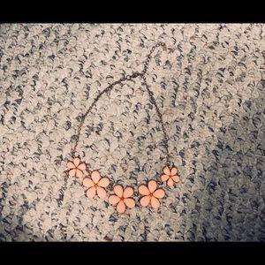Peach floral statement necklace